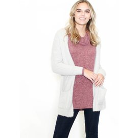 DELUXE FUZZY KNIT CARDIGAN