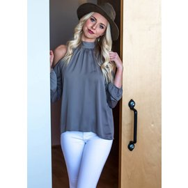 SIMONE COLD SHOULDER BLOUSE
