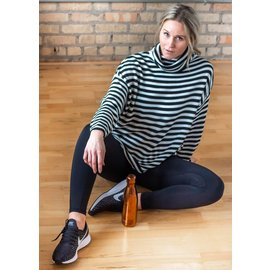 MILA STRIPED TURTLENECK SWEATER