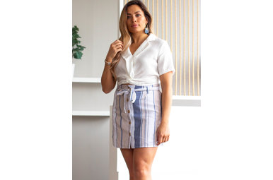 EVER AFTER STRIPED MINI SKIRT