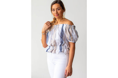 EVER AFTER STRIPED TOP