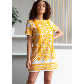 SICILY EMBROIDERED SHIFT DRESS