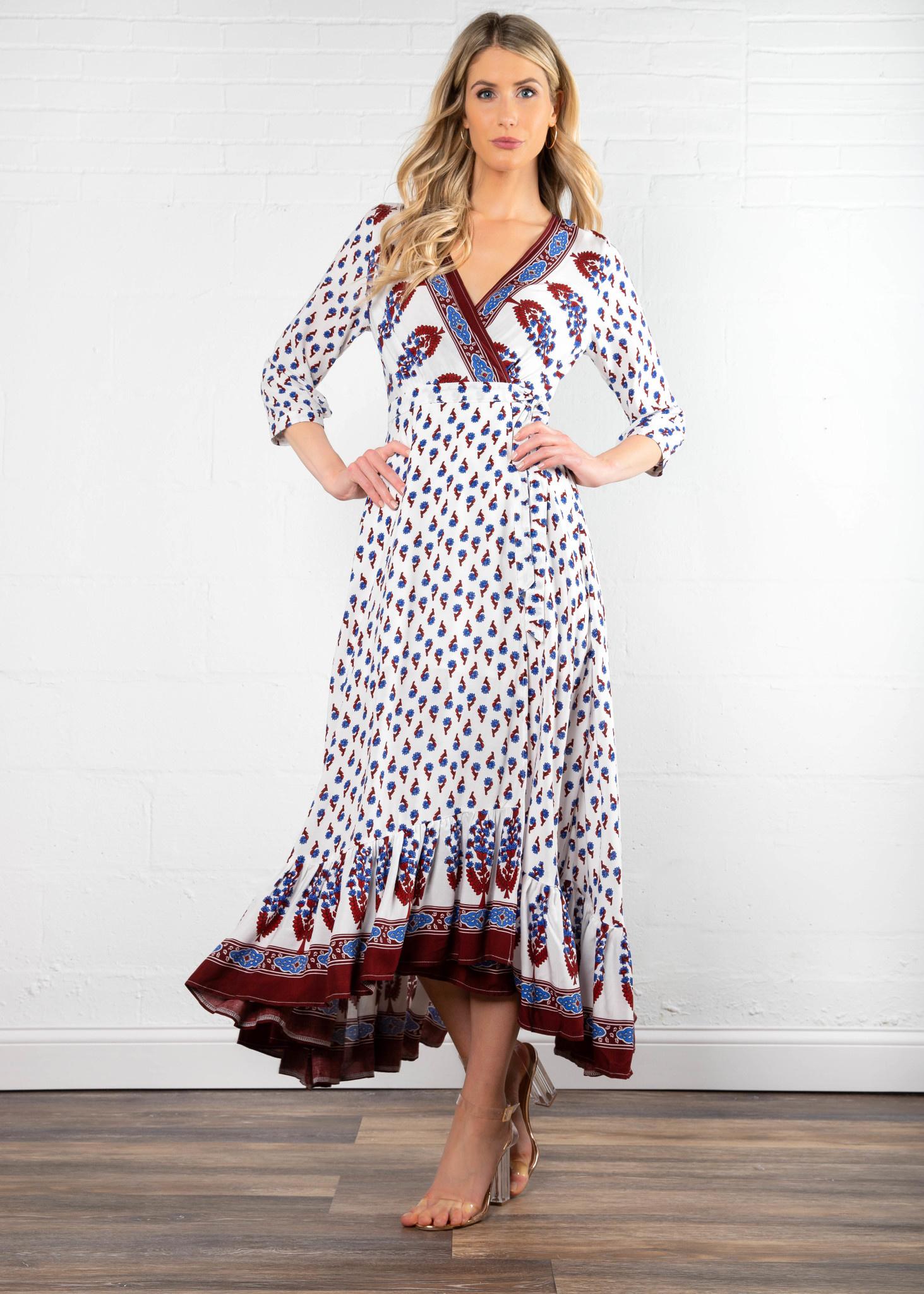 750b0a44d33 Gondala Ride Printed Wrap Dress