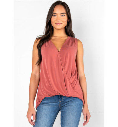 EARLY EVENING SURPLICE TANK TOP