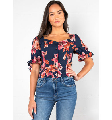 SLOW KISS FLORAL BLOUSE