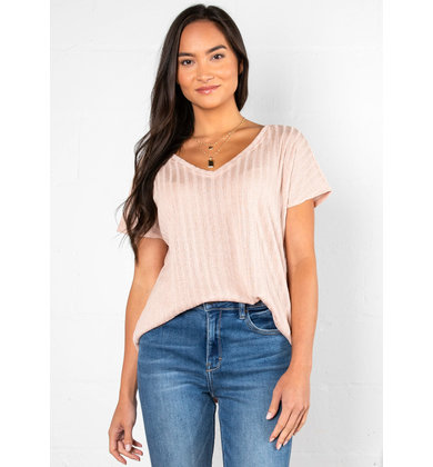 LUCKY FOR YOU BLUSH TOP