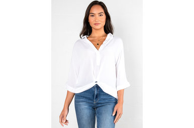 JUST MY TYPE WHITE BLOUSE