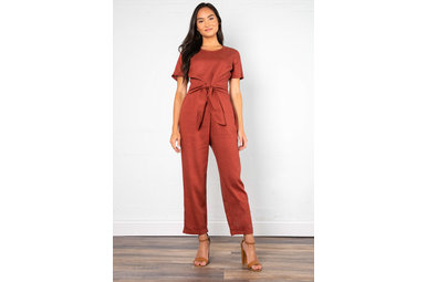 GIVE + TAKE FRONT TIE JUMPSUIT