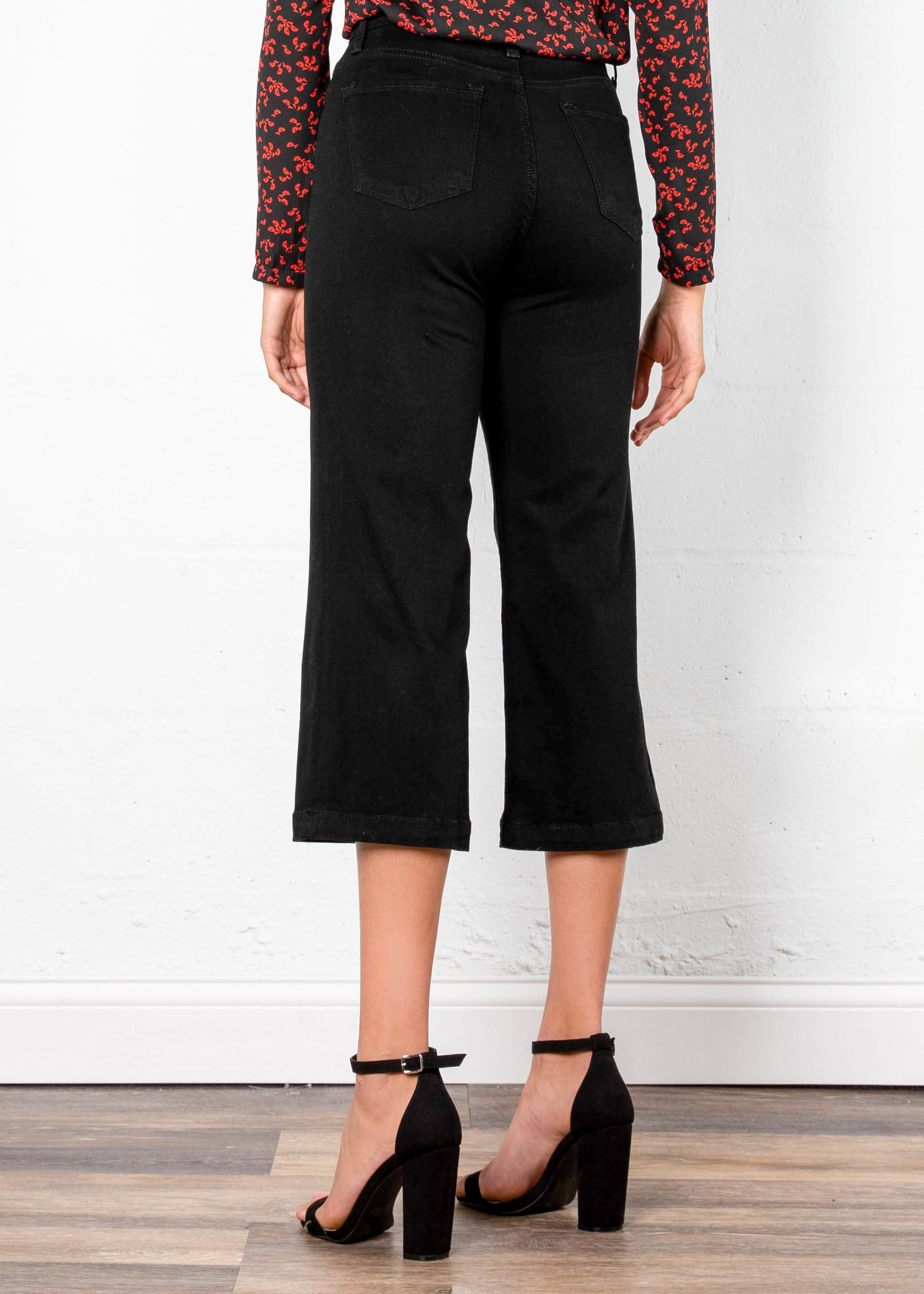 THE WORKS CROPPED BLACK JEANS