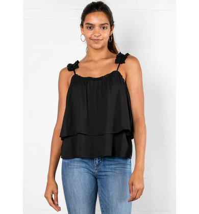 MATERIAL GIRL RUFFLE TANK TOP
