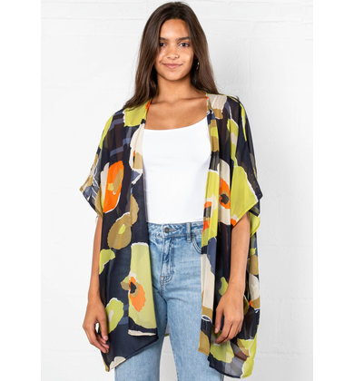 ALL AROUND ME PRINTED KIMONO