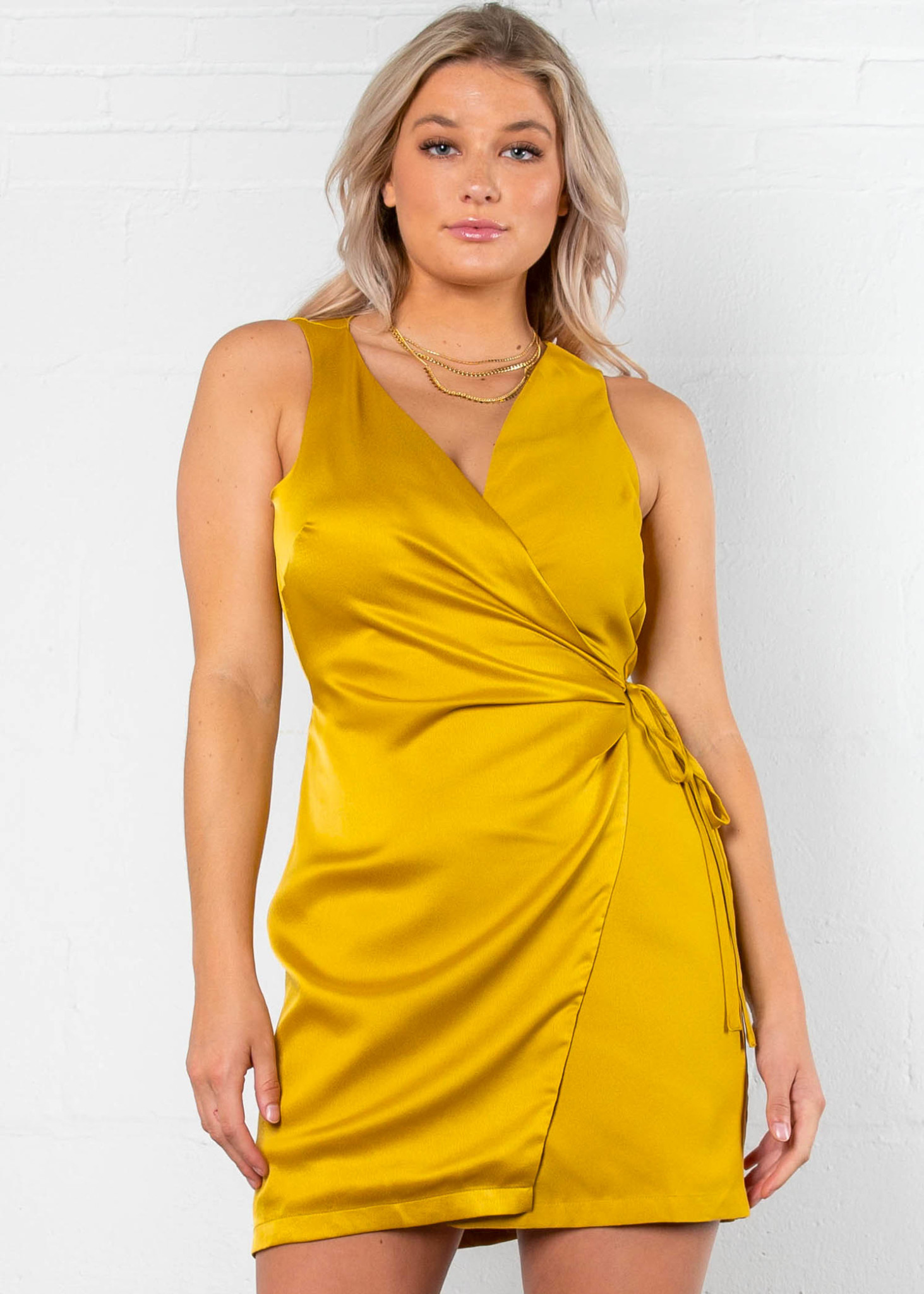 VERMILLION WRAP DRESS