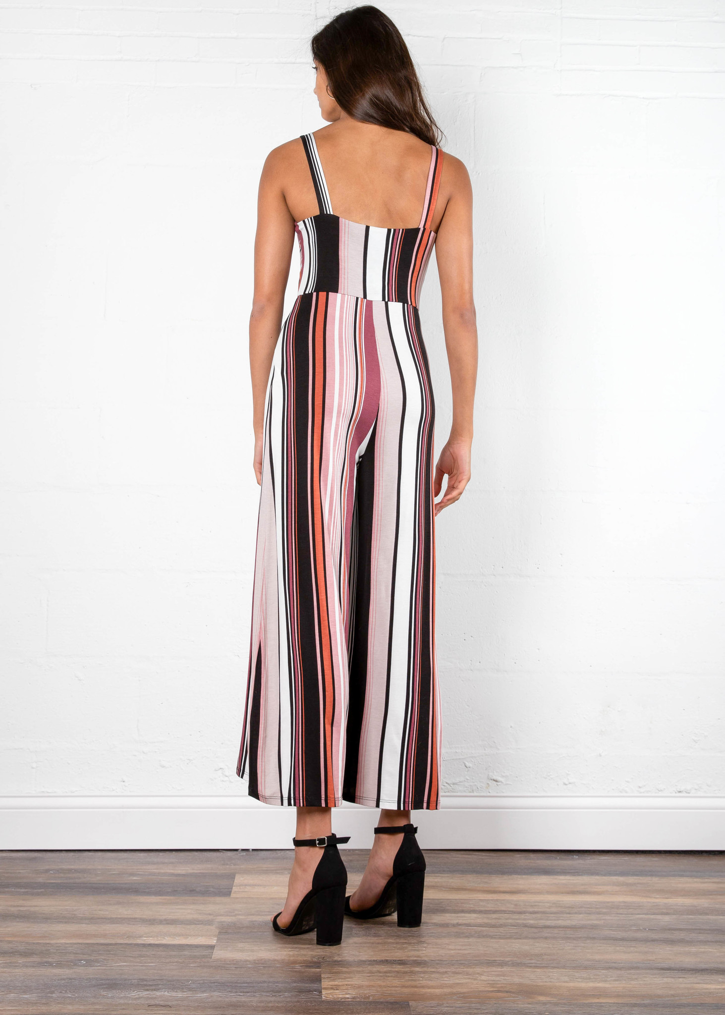 HAPPY HOUR STRIPED JUMPSUIT
