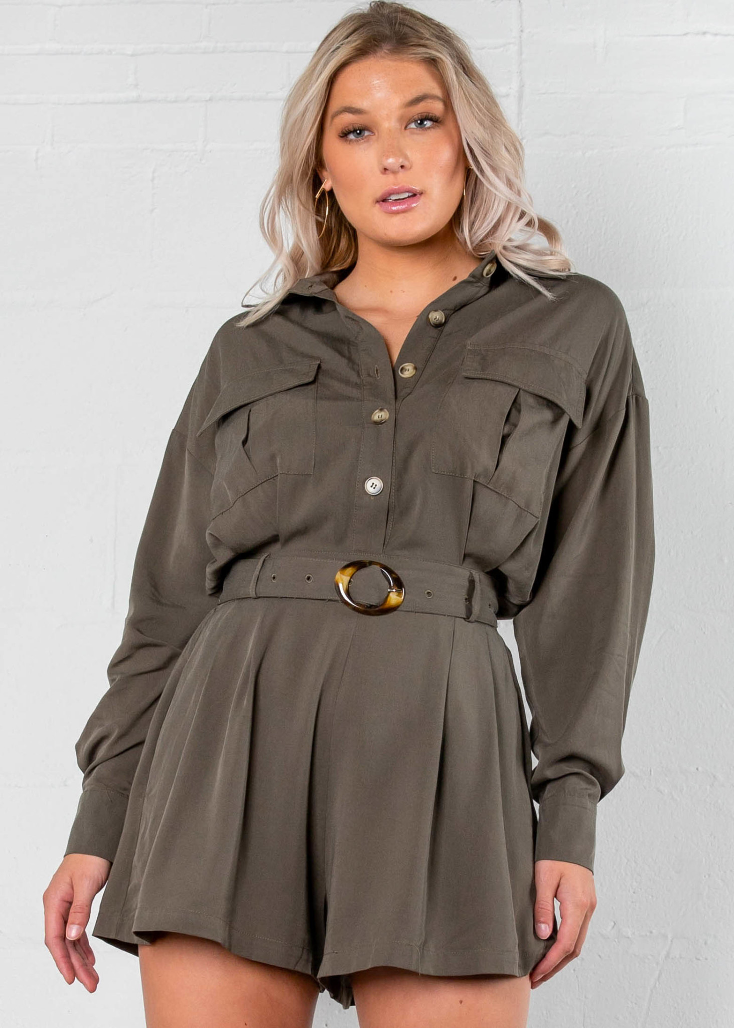 NAME OF LOVE BELTED ROMPER