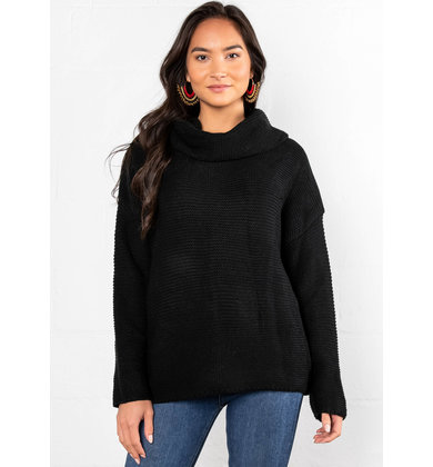 ARIANA COWL NECK SWEATER
