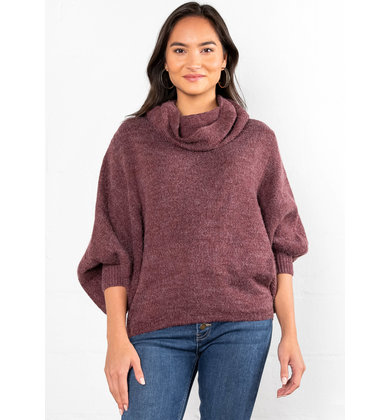 CHASING LOVE COWL NECK SWEATER