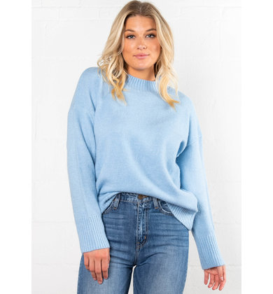 CRISP DAY MOCK NECK SWEATER