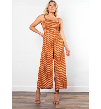 NASHVILLE SMOCKED JUMPSUIT