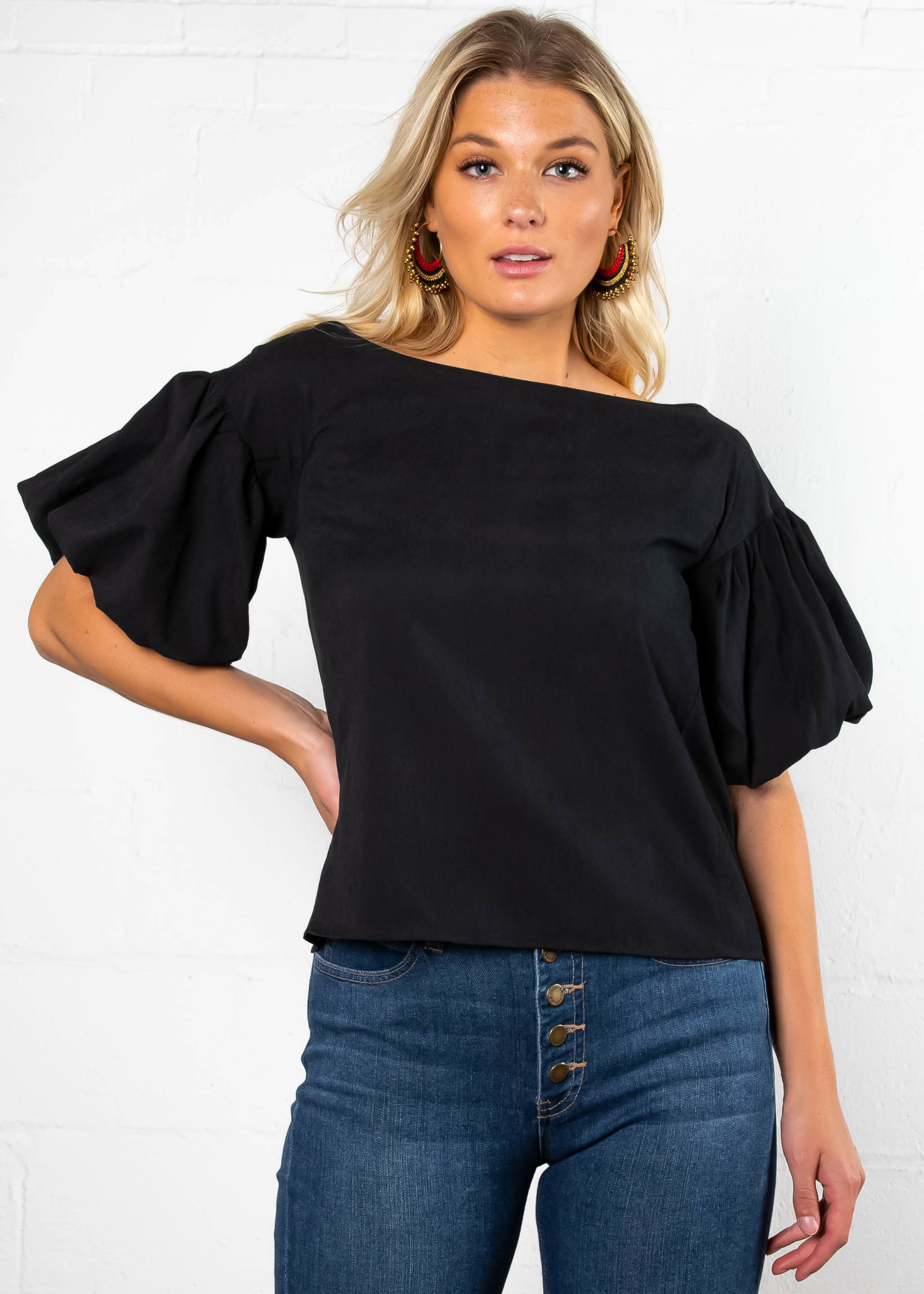 OFF THE CLOCK BOATNECK TOP