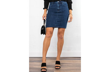 MELROSE DARK WASH DENIM SKIRT