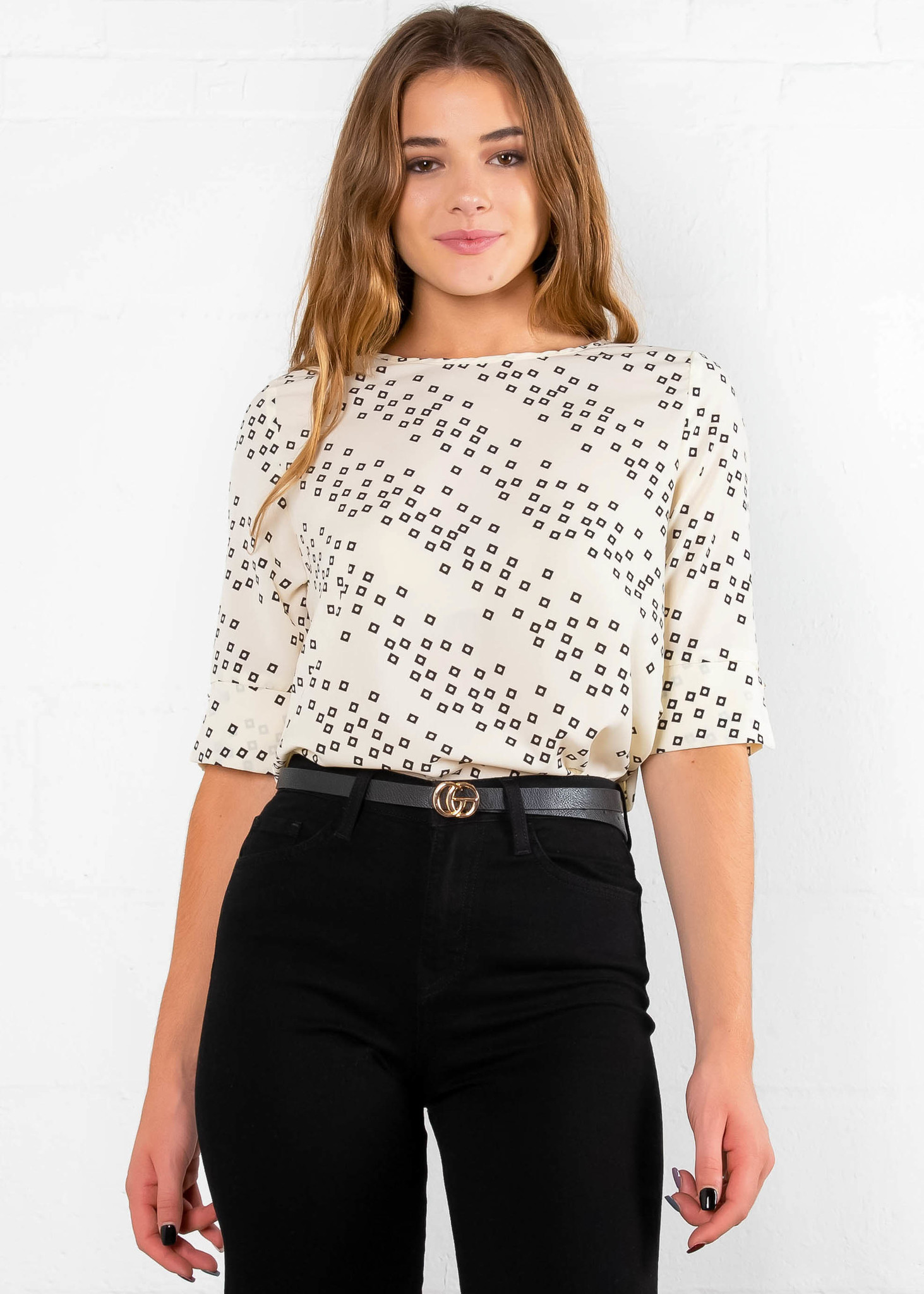 COUNT ON ME PRINTED BLOUSE