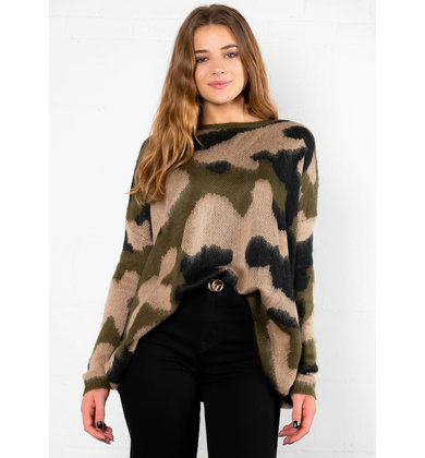 CIDER WOODS CAMO PRINT SWEATER
