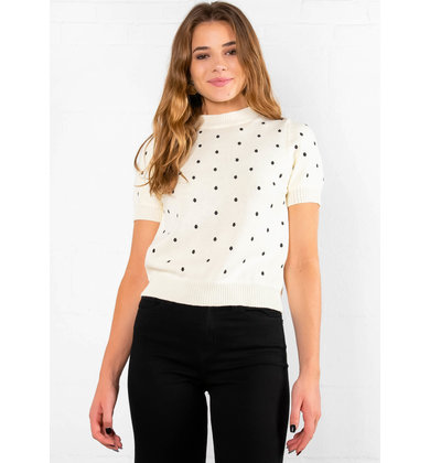 HARD TO MISS POLKA DOT SWEATER