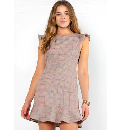 GATHER 'ROUND PLAID DRESS