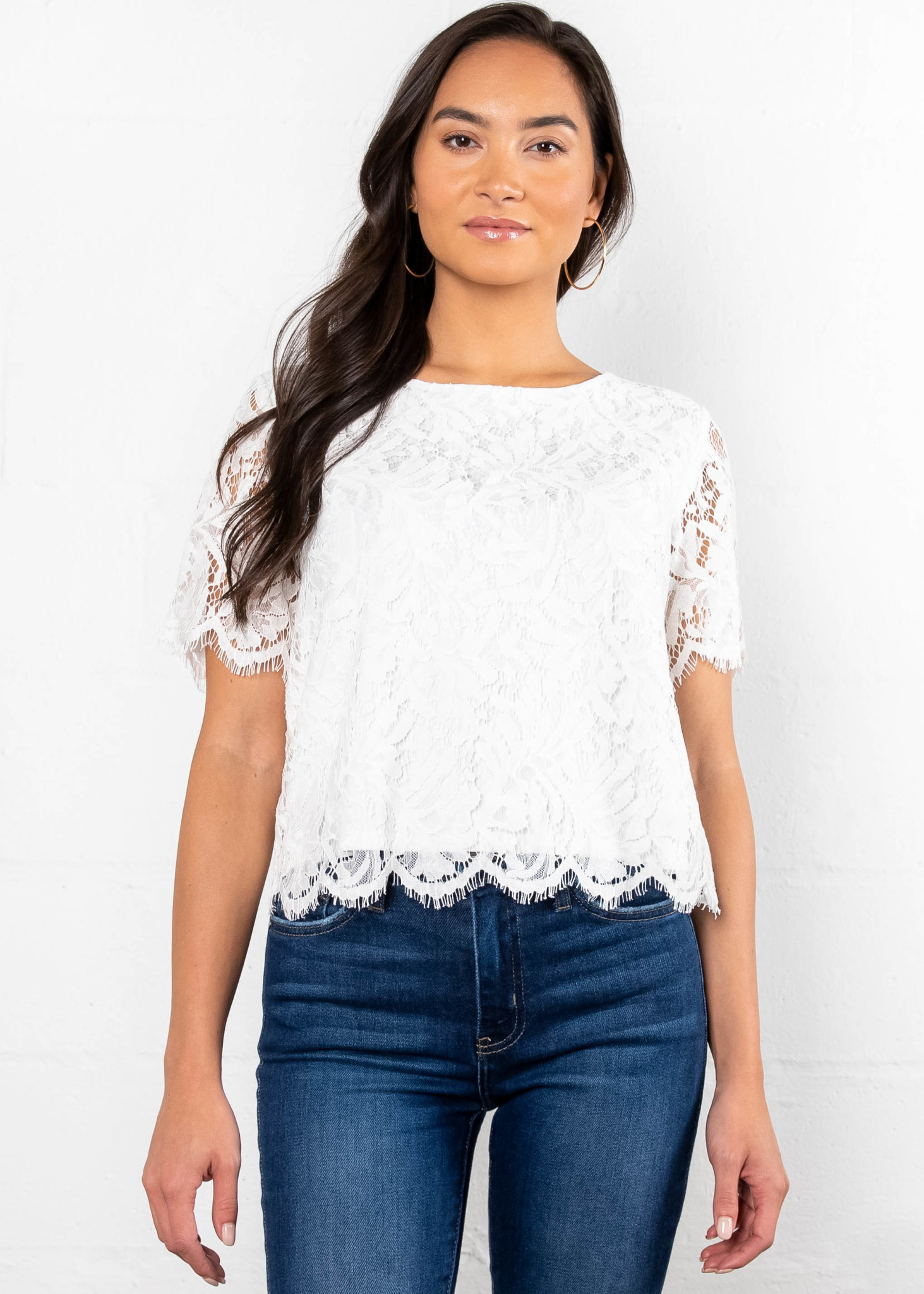 WALK TO YOU LACE TOP - IVORY