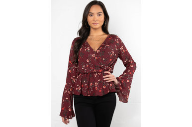 PICK OF THE PATCH FLORAL BLOUSE
