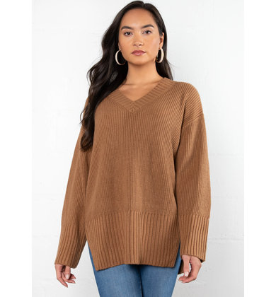 WEEKENDING RIBBED SWEATER