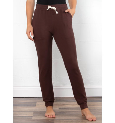 LOW KEY COMFY JOGGERS - BURGUNDY