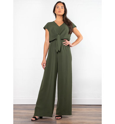 BREAK OF DAWN OLIVE JUMPSUIT
