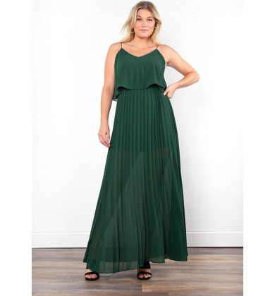 EVERLASTING PLEATED MAXI DRESS