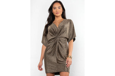 OUT TONIGHT FRONT TWIST DRESS