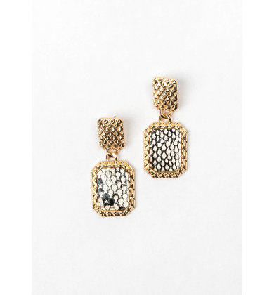 WILD CARD EARRINGS - SNAKESKIN