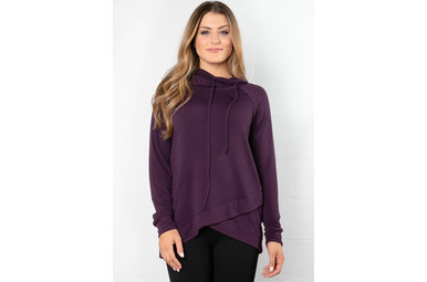 OAKLYN COWL NECK SWEATSHIRT - PLUM
