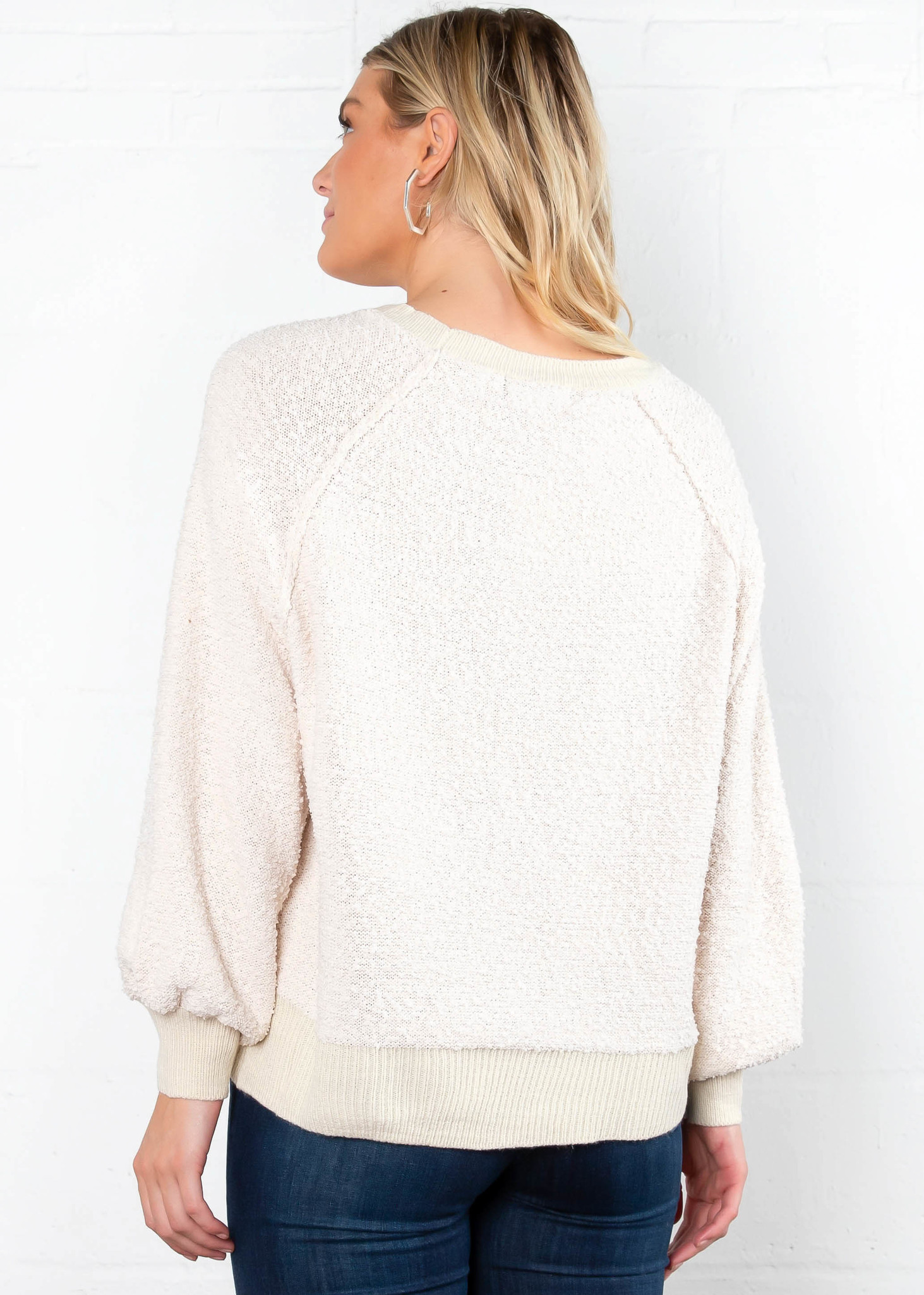 ROAD TO NOWHERE TEXTURED SWEATER