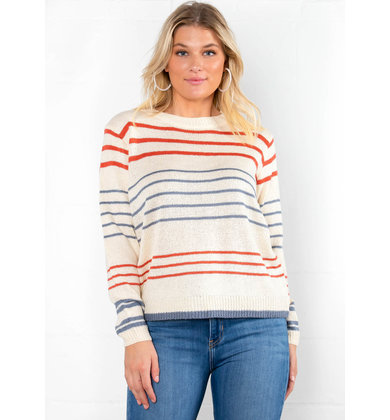 FULL HOUSE STRIPED SWEATER