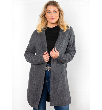 ALL TIME CHARCOAL CARDIGAN