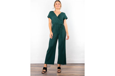 ON THE TOWN PLEATED JUMPSUIT