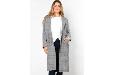BROOKLYN BABE PLAID COAT
