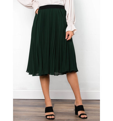 NIGHTINGALE PLEATED MIDI SKIRT