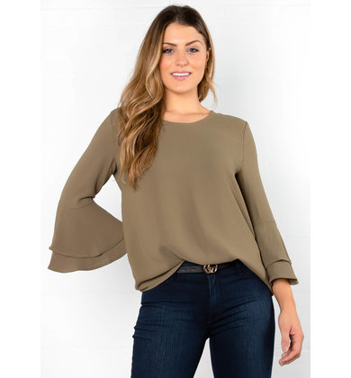 SPARKS FLY BELL SLEEVE BLOUSE