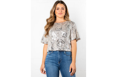 DREAM BY NIGHT SEQUIN TOP