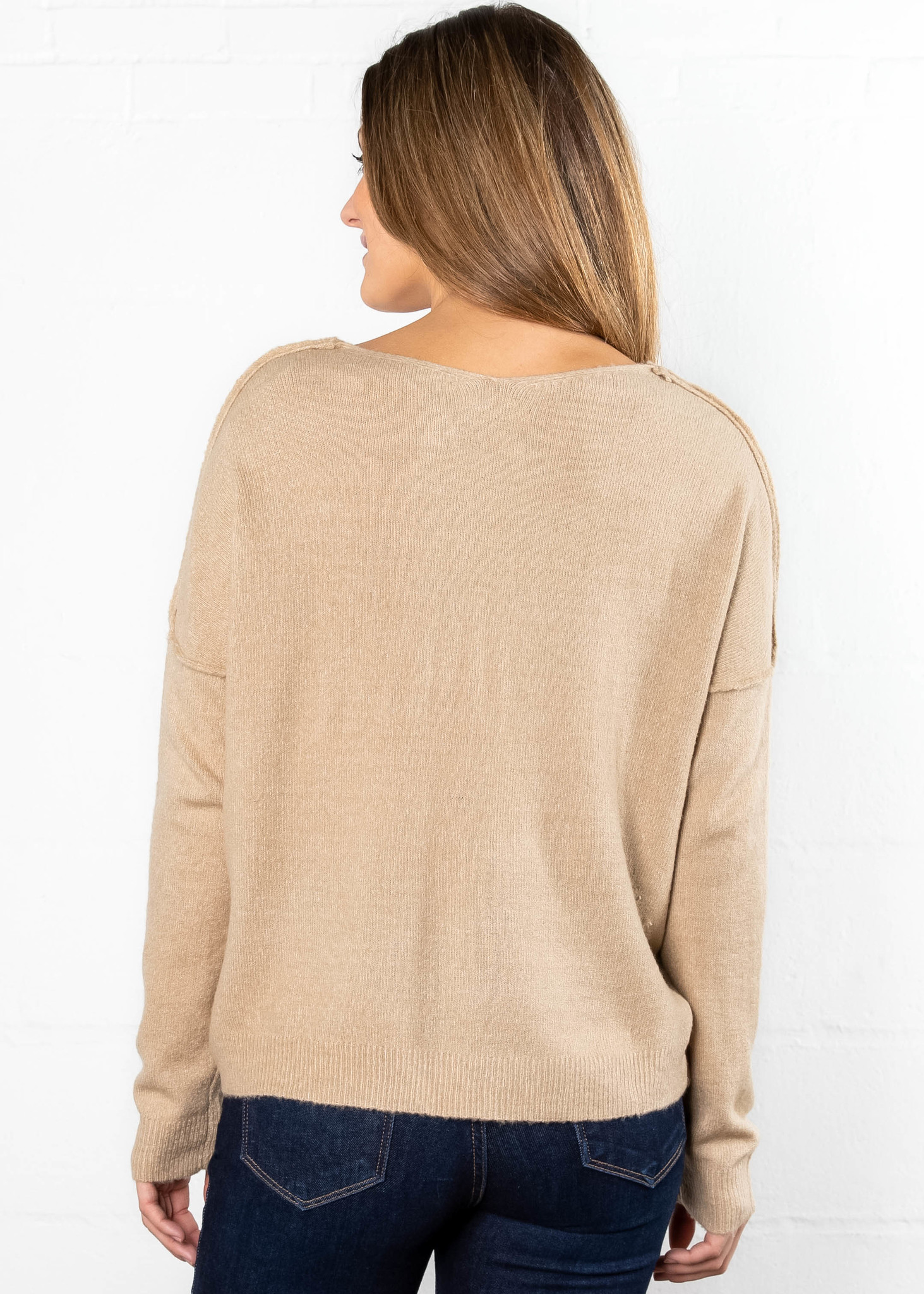 OUR SONG CARDIGAN - TAUPE