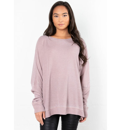 EXTRA MILE OVERSIZED TOP - PINK