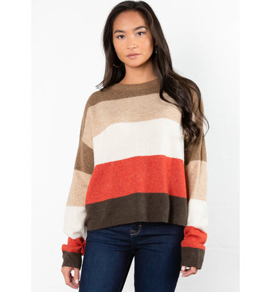 COLLEEN COLOR BLOCK SWEATER