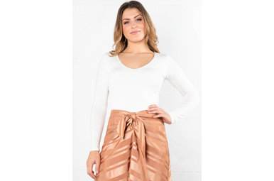SIMPLE DESIRES CROP TOP - IVORY
