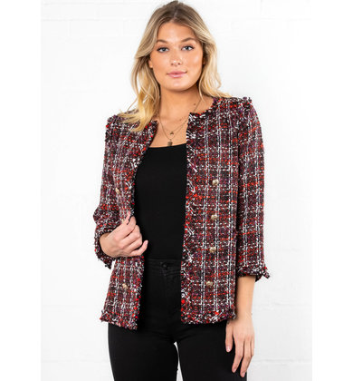 CHECKMATE TWEED BLAZER